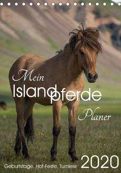 Mein ISLANDPFERDE Planer – Geburtstage, Hof-Feste, Turniere (Tischkalender 2020 DIN A5 hoch) von van der Wiel www.kalender-atelier.de,  Irma