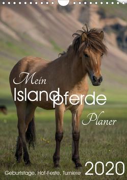 Mein ISLANDPFERDE Planer – Geburtstage, Hof-Feste, Turniere (Wandkalender 2020 DIN A4 hoch) von van der Wiel www.kalender-atelier.de,  Irma