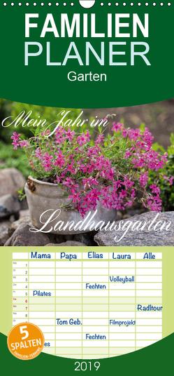Mein Jahr im Landhausgarten – Familienplaner hoch (Wandkalender 2019 , 21 cm x 45 cm, hoch) von Haase,  Andrea