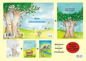 """Mein Jahreskalender + Bilderbuch """"Lass uns nicht mehr streiten"""" + Postkarte von Cebe,  Mustafa, E&Z-Verlag"""