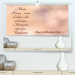 Mein Katze – mein Leben – die schönsten Momente mit dem Vierbeiner – Bastelkalender (Premium, hochwertiger DIN A2 Wandkalender 2020, Kunstdruck in Hochglanz) von Riedel,  Tanja