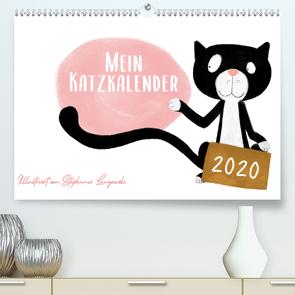 Mein Katzkalender (Premium, hochwertiger DIN A2 Wandkalender 2020, Kunstdruck in Hochglanz) von Langowski,  Stephanie