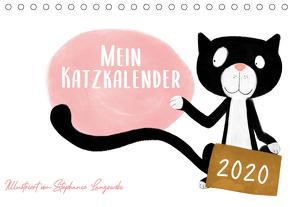 Mein Katzkalender (Tischkalender 2020 DIN A5 quer) von Langowski,  Stephanie