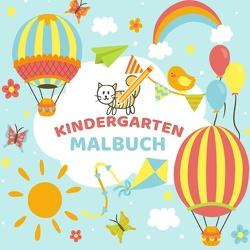 Mein Kindergarten Malbuch – Ausmalbuch für die ganz kleinen – Kinder Malbuch für Kleinkinder mit einfachen Malvorlagen von Kinder Werkstatt