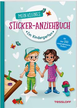Mein kleines Sticker-Anziehbuch. Im Kindergarten von Kühler,  Anna-Lena