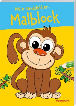 Mein Knuddeltier-Malblock (Affe). Ab 4 Jahren von Poppins,  Oli