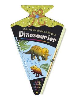 Mein Kratzbuch zum Schulstart – Dinosaurier von Höller,  Katrin