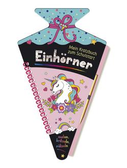 Mein Kratzbuch zum Schulstart – Einhörner von Höller,  Katrin