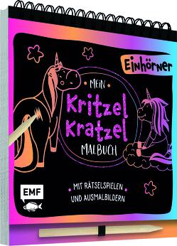 Mein Kritzel-Kratzel-Malbuch – Einhörner