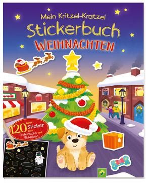 Mein Kritzel-Kratzel-Stickerbuch Weihnachten