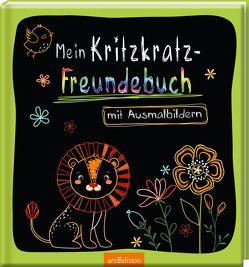 Mein Kritzkratz-Freundebuch mit Ausmalbildern