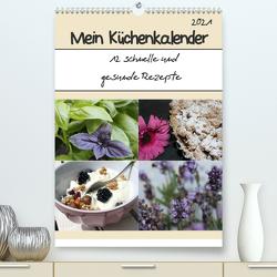 Mein Küchenkalender: 12 schnelle und gesunde Rezepte (Premium, hochwertiger DIN A2 Wandkalender 2021, Kunstdruck in Hochglanz) von Peterz,  Nina