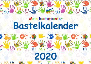 Mein kunterbunter Bastelkalender (Wandkalender 2020 DIN A2 quer) von Vahldiek,  Carola
