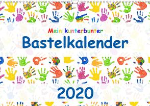 Mein kunterbunter Bastelkalender (Wandkalender 2020 DIN A3 quer) von Vahldiek,  Carola