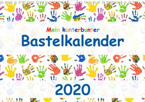 Mein kunterbunter Bastelkalender (Wandkalender 2020 DIN A4 quer) von Vahldiek,  Carola