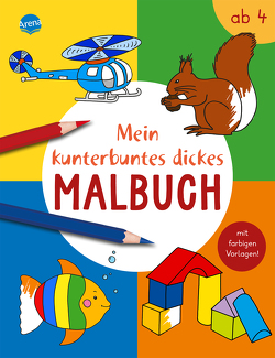 Mein kunterbuntes dickes Malbuch von Nicolas,  Birgitta