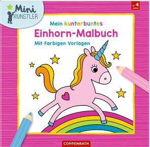 Mein kunterbuntes Einhorn-Malbuch von Engelen,  Anita