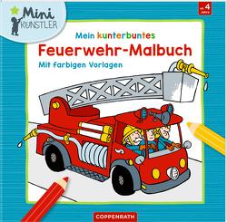 Mein kunterbuntes Feuerwehr-Malbuch von de Becker,  Paul