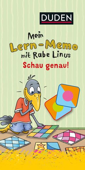 Mein Lern-Memo mit Rabe Linus – Schau genau! von Leuchtenberg,  Stefan, Raab,  Dorothee