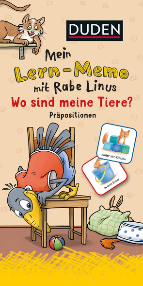 Mein Lern-Memo mit Rabe Linus – Wo sind meine Tiere? von Abel,  Bettina, Leuchtenberg,  Stefan, Raab,  Dorothee