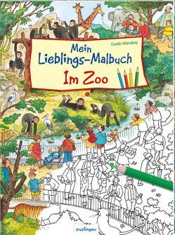 Mein Lieblings-Malbuch – Im Zoo von Wandrey,  Guido
