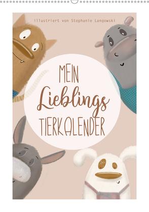 Mein Lieblings Tierkalender (Wandkalender 2020 DIN A2 hoch) von Langowski,  Stephanie