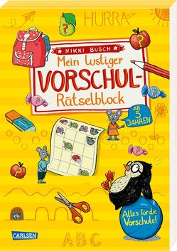Mein lustiger Vorschul-Rätselblock von Busch,  Nikki, Hahn,  Christiane