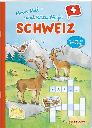 Mein Mal- und Rätselheft. Schweiz von Beurenmeister,  Corina