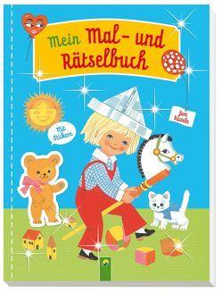 Mein Mal- und Rätselbuch mit Stickern von Kuhn,  Felicitas, Steinfeld,  Lena