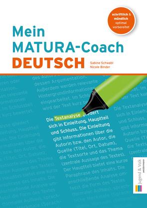 Mein MATURA-Coach von Binder,  Nicole, Schwabl,  Sabine