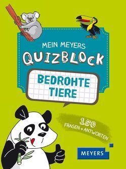Mein Meyers Quizblock – Bedrohte Tiere von David,  Patrick, Tran-Duc,  Marie-Hélène