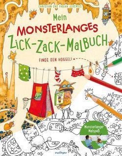 Mein monsterlanges Zick-Zack-Malbuch: Finde den Hoggel! von Jeremies,  Fabian und Christian