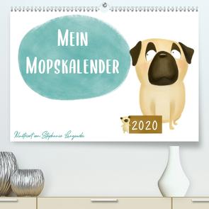 Mein Mopskalender (Premium, hochwertiger DIN A2 Wandkalender 2020, Kunstdruck in Hochglanz) von Langowski,  Stephanie
