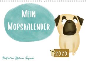 Mein Mopskalender (Wandkalender 2020 DIN A3 quer) von Langowski,  Stephanie