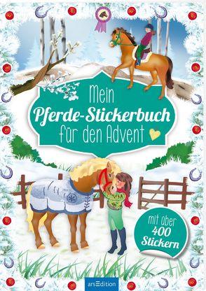 Mein Pferde-Stickerbuch für den Advent von Wagner,  Maja