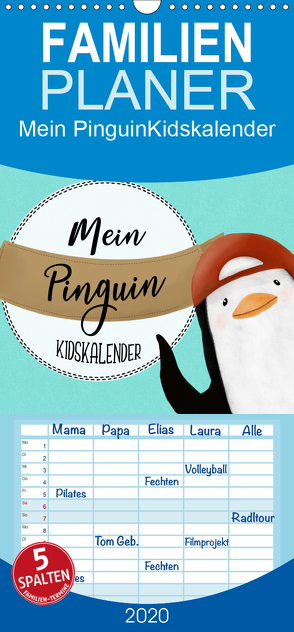 Mein Pinguin Kidskalender – Familienplaner hoch (Wandkalender 2020 , 21 cm x 45 cm, hoch) von Langowski,  Stephanie