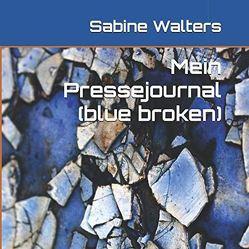 Mein Pressejournal (blue broken) von Walters,  Sabine