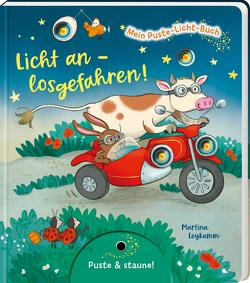 Mein Puste-Licht-Buch: Licht an – losgefahren! von Leykamm,  Martina, Tress,  Sylvia