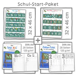 Mein Schul-Start-Paket (2 Lernposter 32 x 46 cm + 2 Schreiblernhefte DIN A4 von Momm,  Helga