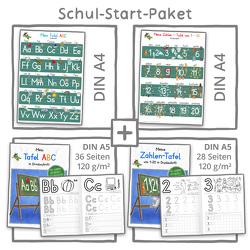 Mein Schul-Start-Paket (2 Lernposter DIN A4 + 2 Schreiblernhefte) von Momm,  Helga