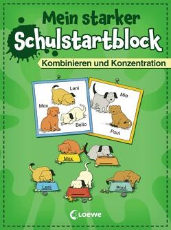 Mein starker Schulstartblock – Kombinieren und Konzentration von Beurenmeister,  Corina, Nieländer,  Peter, Volk,  Roland