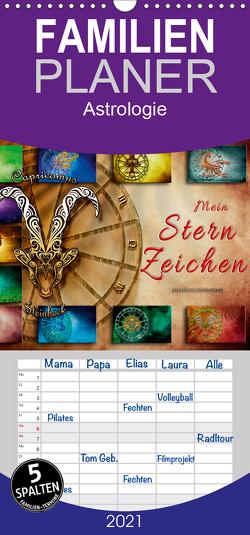Mein Sternzeichen – Familienplaner hoch (Wandkalender 2021 , 21 cm x 45 cm, hoch) von Roder,  Peter
