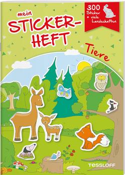 Mein Stickerheft. Tiere von Kiefmann,  Elisabeth, Schmidt,  Sandra