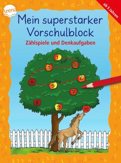Mein superstarker Vorschulblock. Zählspiele und Denkaufgaben von Bohnstedt,  Antje, Merle,  Katrin, Schmiedeskamp,  Katja
