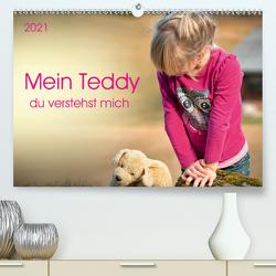 Mein Teddy – du verstehst mich (Premium, hochwertiger DIN A2 Wandkalender 2021, Kunstdruck in Hochglanz) von Roder,  Peter