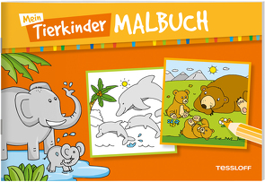 Mein Tierkinder-Malbuch von Schmidt,  Sandra