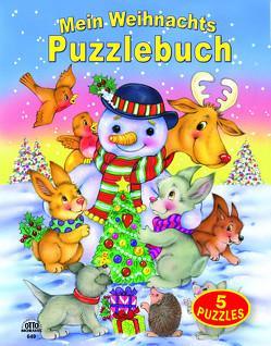 Mein Weihnachts-Puzzlebuch 5 Puzzles (12 teilig) mit gereimten Texten Blattstärke 3mm von Hüttenbrenner,  S., Ward,  S.