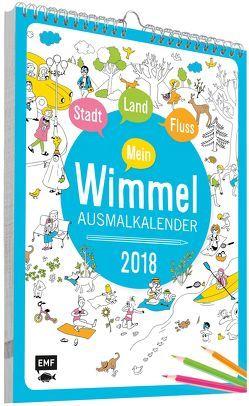 Mein Wimmel-Ausmalkalender 2018 von Cortinas,  Ruth