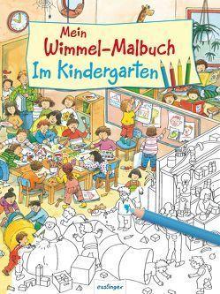 Mein Wimmel-Malbuch – Im Kindergarten von Gekle,  Stefanie, Wandrey,  Guido