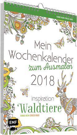 Mein Wochenkalender zum Ausmalen 2018. Inspiration Waldtiere